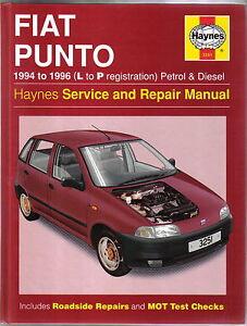 Fiat-Punto-Petrol-amp-Diesel-1994-96-L-P-reg-Haynes-Service-amp-Repair-Manual