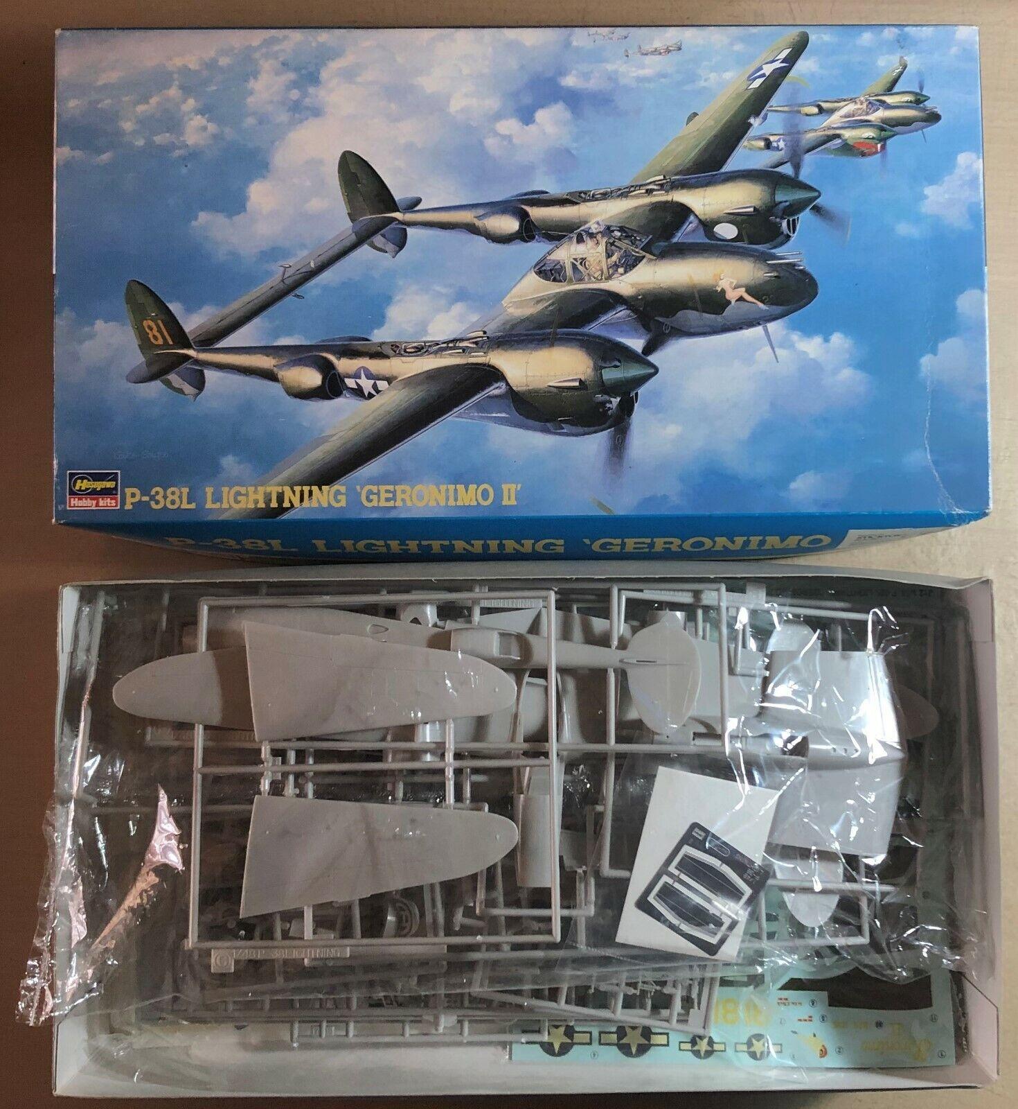HASEGAWA 09102 - P-38L LIGHTNING 'GERONIMO II' - 1 48 PLASTIC KIT