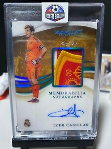 2020 Immaculate Soccer 1of1 IKER CASILLAS Patch Autograph PLATINUM 1/1 AUTO