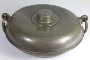 Um 1780-1800 Al802 Belebende Durchblutung Und Schmerzen Stoppen Selten!! Wärmflasche/ Bettflasche Aus Zinn