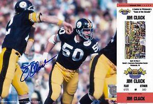 Pittsburgh Steelers JIM CLACK autograph signed auto Super Bowl X 8x10 w Bradshaw