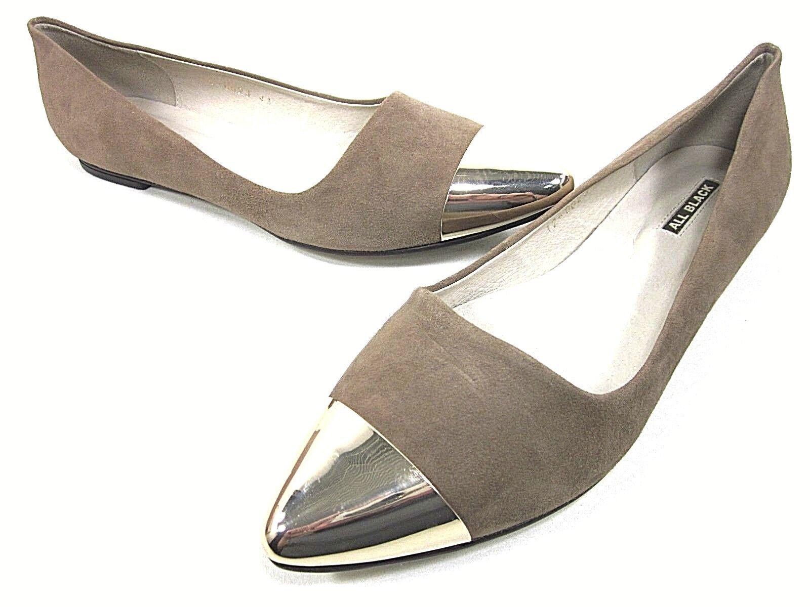 Todo Todo Todo Negro Elegante MTC Ballet Planas Mujer gris Topo nosotros tamaño 10.5 M UE 41, Nuevo Exhibido  edición limitada en caliente