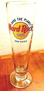 Hard-Rock-Cafe-San-Diego-9-Beer-Pilsner-Glass-90-039-s-Free-Priority-Shipping