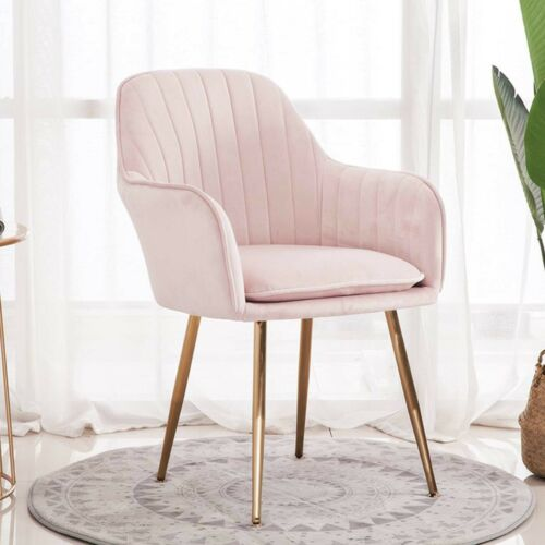 Velvet Fabric Dining Chairs Metal Room Kitchen Gold Metal Legs Dining Chairs