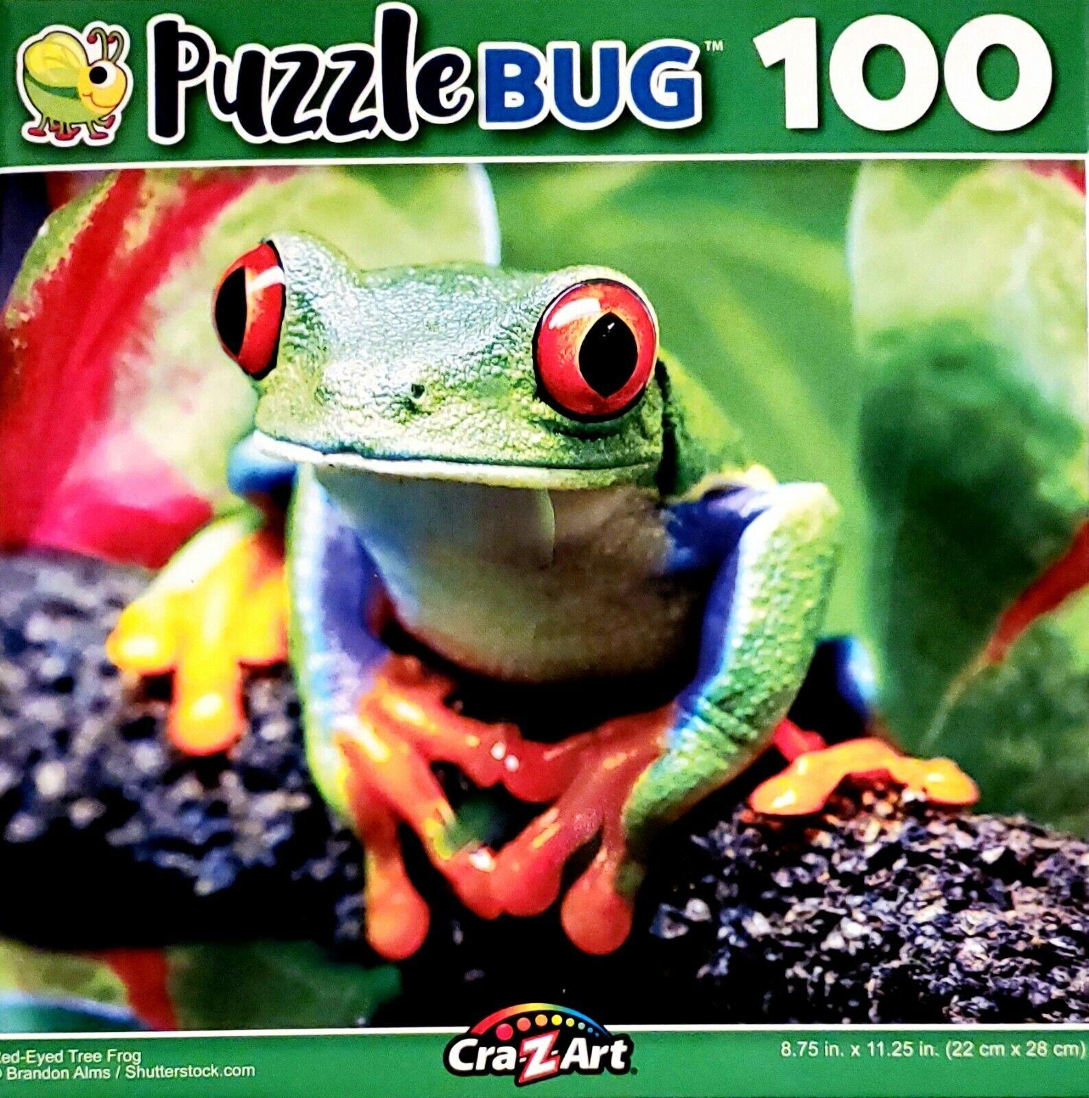 "PUZZLEBUG 100 Puzzle PRETTY PINK FLAMINGO 8.75/"" X 11.25/"""