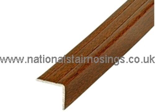 25x20mm Aluminium Walnut Stair Nosing Step Edging Tile Laminate