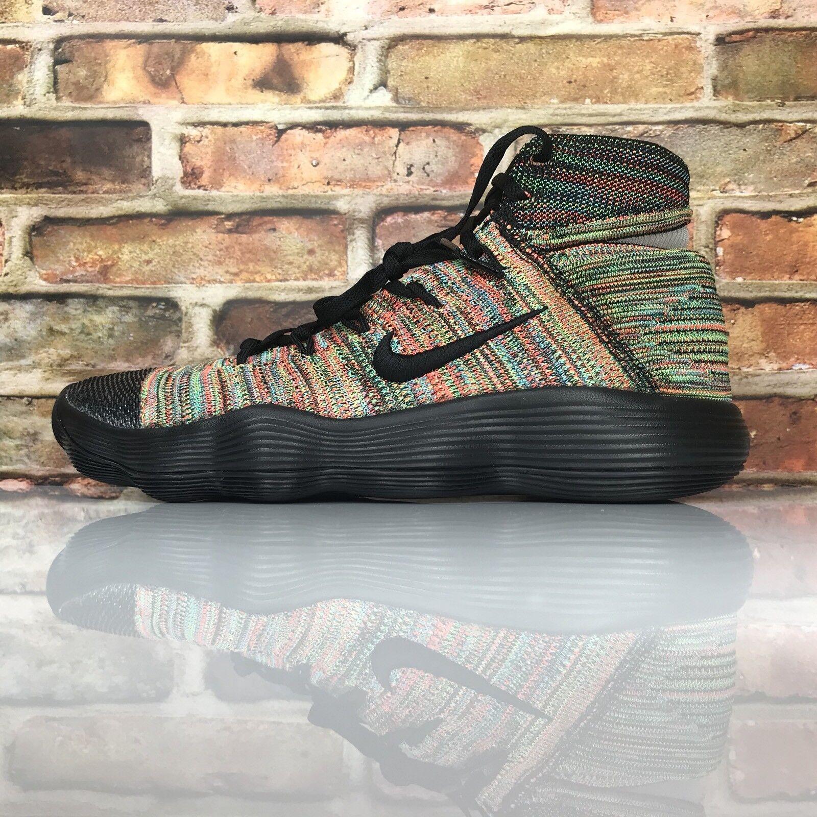 Nike Hyperdunk 2018 Flyknit Mens Shoe Size 10 Multi Color Black White 917726 006