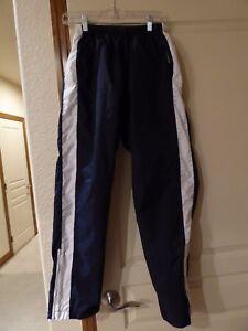 Nike Nylon rain wind Pants Track Running Womens M 8-10 Reversible ... b1e21808ba
