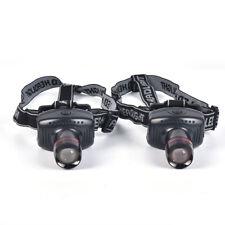 Headlight Flashlight Frontal Lantern Zoomable Head Torch Light Bike Riding La/_SG