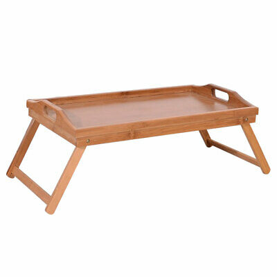 Us Portable Folding Bamboo Tray Dinner Table Coffee Stand For Snack Tea Picnic Ebay