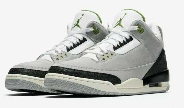 2018 Nike Air Jordan 3 Retro Chlorophyll Grey Green Sail 136064-006 Sz 11 c14f08dcb
