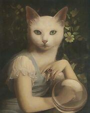 Stephen Mackey Unspeakable Fortune Fantasy Weird Animal Cat Print Poster 16x20