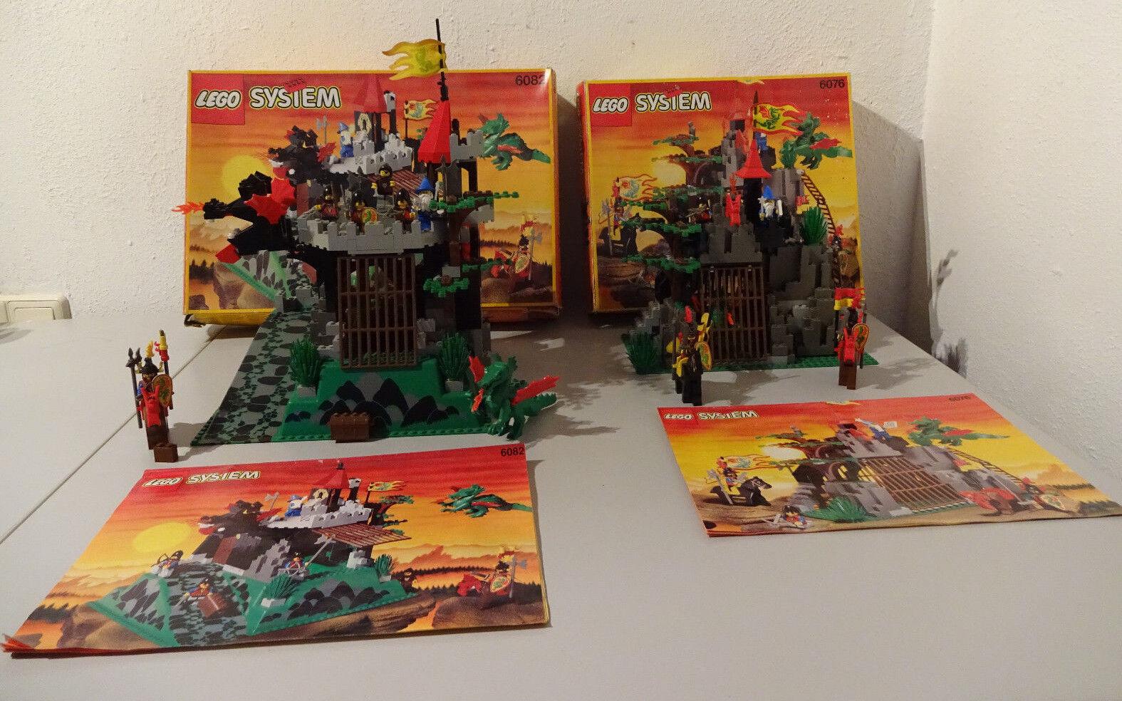 ( Go) Lego Sistema 6076 Cueva Del Dragón 6082 Caballero`S con Caja Orig. & Ba