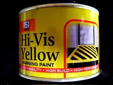 "WARNING PAINT ""HI VISIBILITY"" YELLOW SIGNS+LINES+FLOOR INSIDE OUTSIDE USE 180ML"