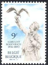 1v de Rodenbach/poète/poésie/écrivains/Arts/Statue/oiseau/gens de Belgique 1980 (n43250)