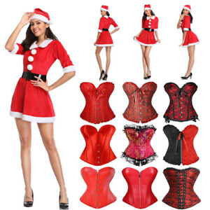 Christmas-Underwear-Women-Lady-Lingerie-Red-Babydoll-Dress-Sleepwear-Costume-Lot