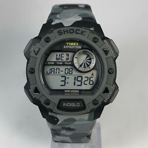 Timex Mens Shock Expedition Indiglo Multifunction Camo Digital Sport Wristwatch