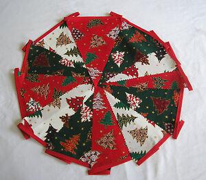 Hand-Made-10ft-13-Flag-Christmas-Fabric-Bunting-Garland