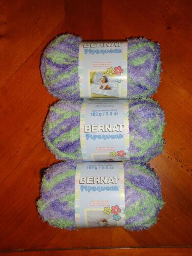 Pixie Pow #59320 Skeins 3.5 oz Bernat Pipsqueak Yarn Lot Of 3 Skeins