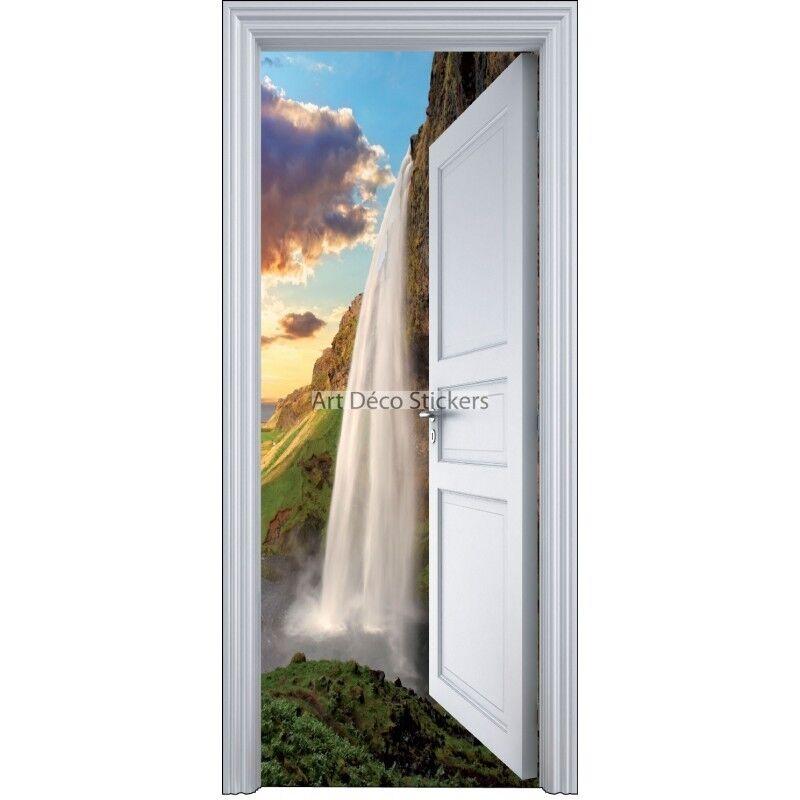 Aufkleber Tür Schein Auge Wasserfälle 90x200cm 9113