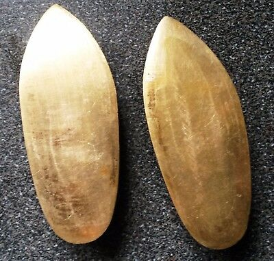 Pair Little Brass Ashtray with India Slipper Shoes Style.L-9.5cmx3.8cm.Excellent
