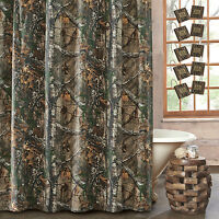 Realtree® Camouflage Xtra Camo Fabric Shower Curtain 72x72 Or W/ Camo Hooks Set