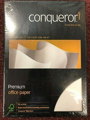 Conqueror A4/Premium Paper CX22/Diamond White 500/fogli 100GSM