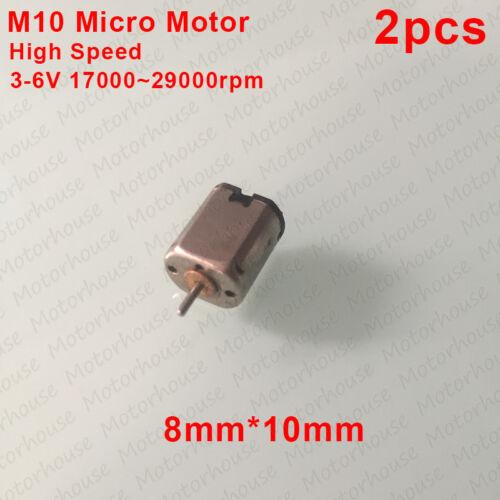 2pcs  3V~6V 29000RPM High Speed Micro DC Motor M10 Micro Electric Motor 8mm*10mm