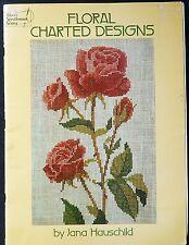 Cross Stitch Charts - Floral Charted Designs - Jana Hauschild - Dover Needlework