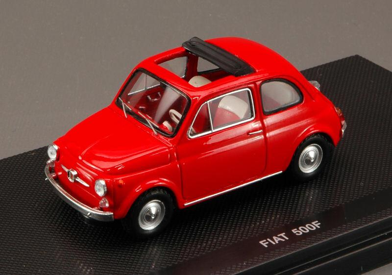 Fiat 500 f open soft top 1965 rosso 1 43 auto stradali scala ebbro