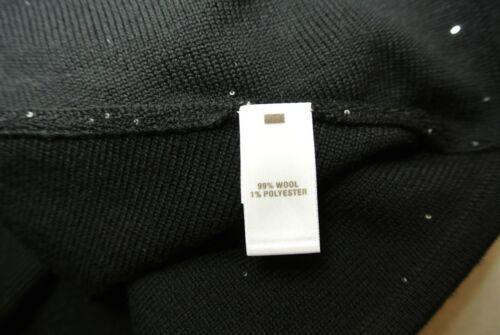 Størrelse Neck Sort I John S Sweater New Sequin Blend St Wool V w6xSvqp