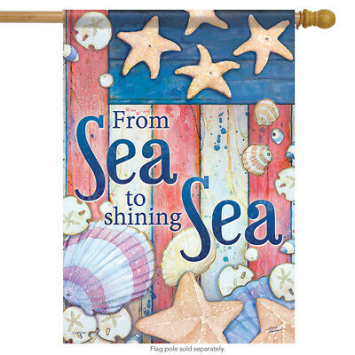 """Life Is Better At The Beach Summer House Flag Sandcastle Nautical 28/"""" x 40/"""""""