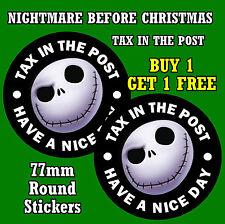 Nightmare Before Christmas-impuesto en el post-Stickers-reemplazar viejo impuesto Disco