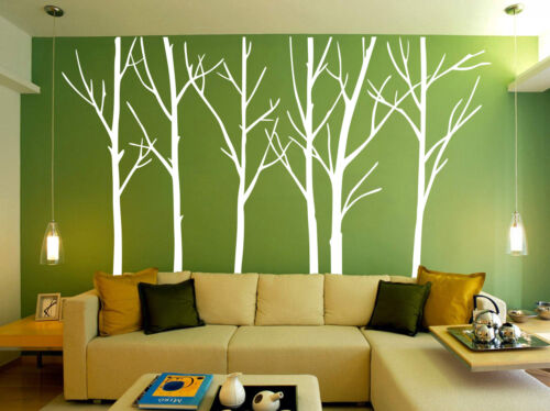 Birch Forest Tree Room Wall Stickers Decal Vinyl Decor UK SH213