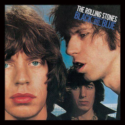 Black and Blue Framed Album Cover Prints - Rolling Stones