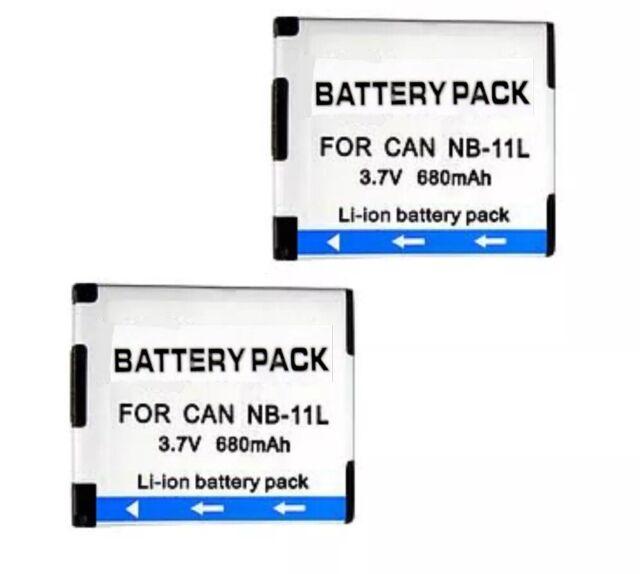 2X Battery for Canon NB-11L NB-11LH IXUS125 HS 240 HS140 HS A4000 A350 AU local