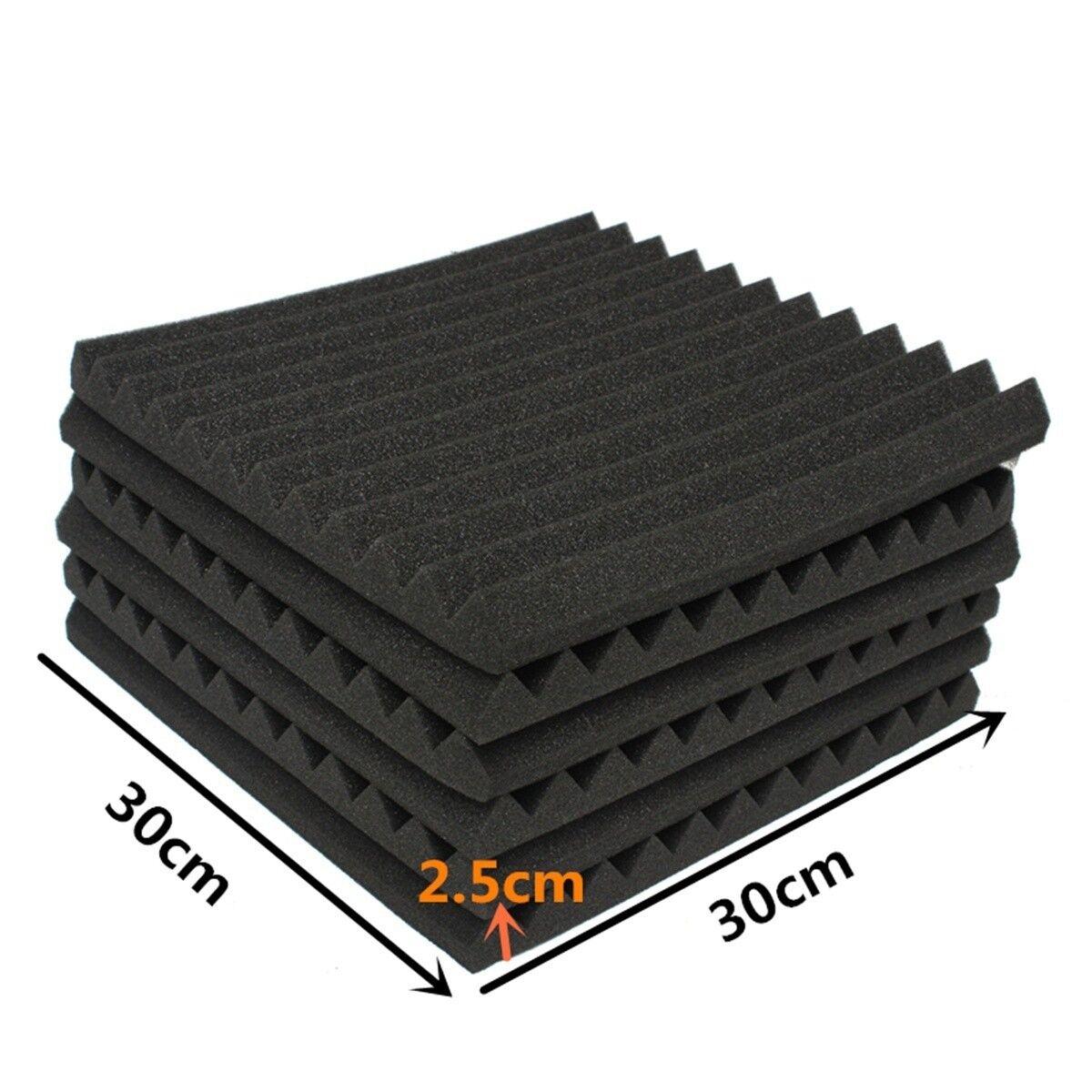 12/24PCs Acoustic Panels Tiles Studio Sound Proofing Insulation Closed Cell Foam 3