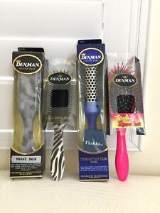 DENMAN-Hair-Brush-Made-in-UK-Classic-Styling-Plastic-YOU-PICK-Colorful-Authentic