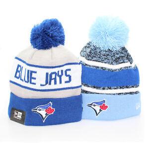 50a13ec48 TORONTO BLUE JAYS MLB Sports Cuffed Pom Pom Beanie NEW ERA Hat ...