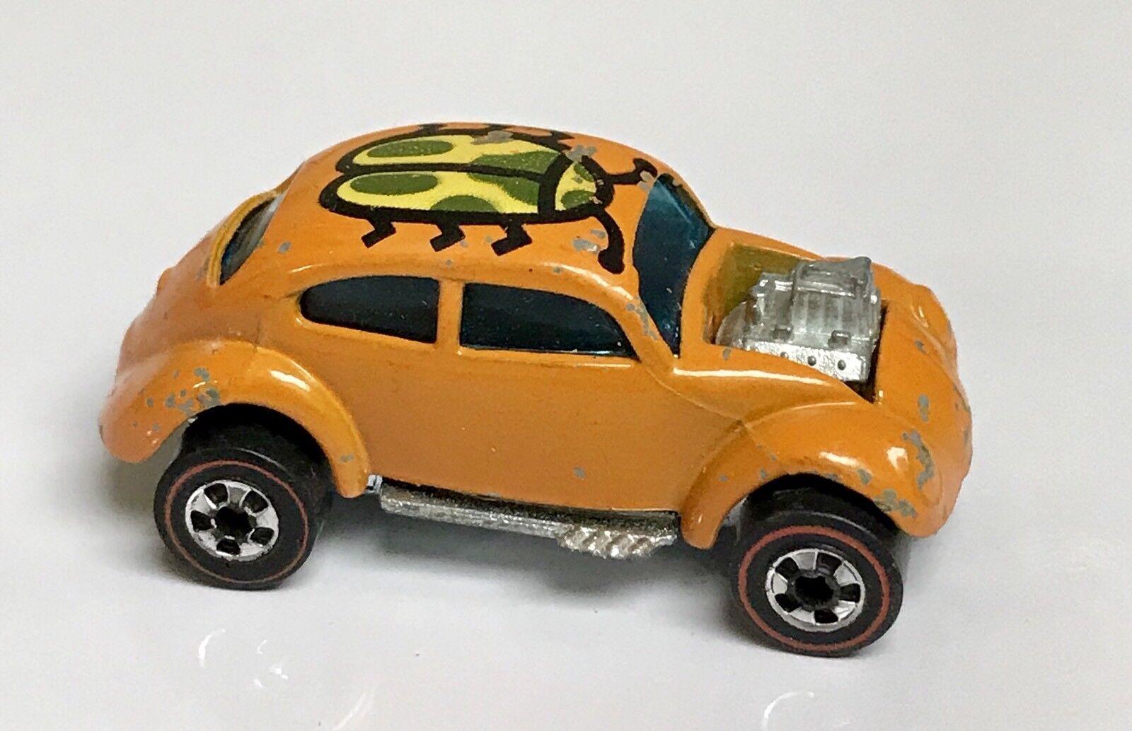 Hot Wheels rojoline naranja Esmalte Base De Metal Personalizado Volkswagen Escarabajo Vw