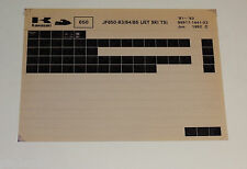 Microfich Ersatzteilkatalog Kawasaki Jet Ski TS Stand 06/1992