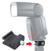Camera Flash Hot Shoe Mount Adapter for Canon Speedlite 600EX-RT/580EX 430EX&II