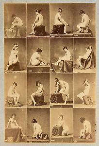 Igout Studi Per Nudo Jeune Donna Francia Foto Vintage Albumina c1875