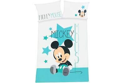 Disney Baby Bettwäsche Mickey Mouse Stern grün 100 x 135 cm /& 40 x 60 cm Bezug