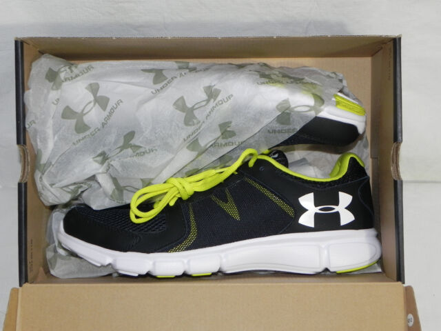 huge selection of 0c624 ae4bc Under Armour Thrill 2 Mens Black Running Road Sports Shoes Trainers PUMPS 10