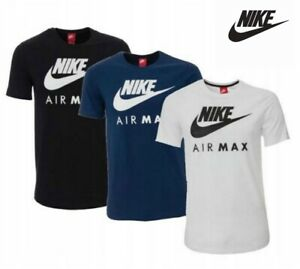 Nike-Air-Max-Mens-T-Shirt-Gym-Sports-Jersey-Cotton-Tee-Size-S-M-L-XL