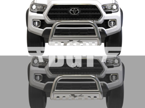 BGT FOR 2016-2018 TOYOTA TACOMA FRONT BULL BAR WITH SKID PLATE BUMPER GUARD SS