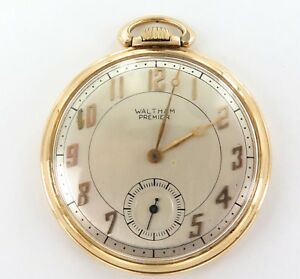 1940-WALTHAM-COLONIAL-21J-14K-GOLD-POCKET-WATCH-SUPER-RARE-ONLY-10-000-MADE