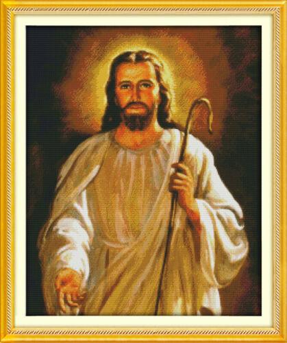 libre p/&p F Joy dimanche Jésus Qualité Counted Cross Stitch Kit 14 CT 49x58cm