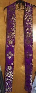 Advent-Purple-amp-Gold-Clergy-Stole-Vestment-Liturgical-Nativity-Star-Christmas
